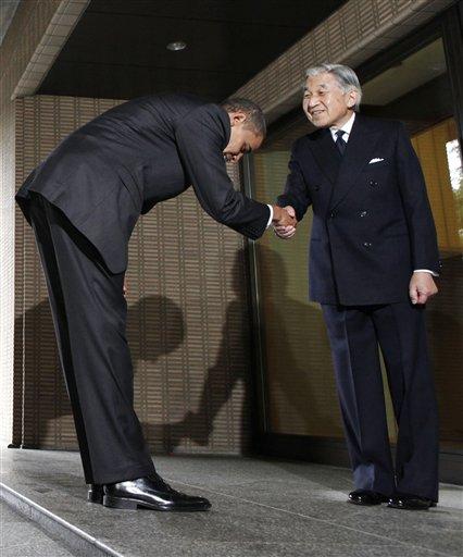 オバマさんvs.天皇陛下 どう思います?