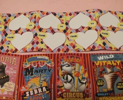 バレンタインの子供用カード