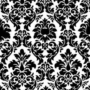 black positive space damask black and white free floral jpeg