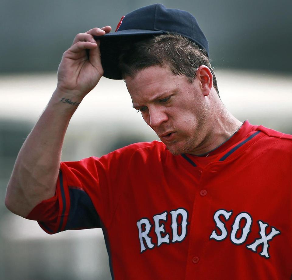Jake Peavyのほっぺたがふくらんでるのはこの「噛みたばこ」 from bostonglobe.com