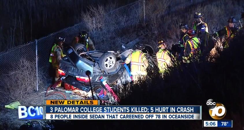 若者たちよ、親を悲しませるな! サンディエゴで起こった悲惨な自動車事故について