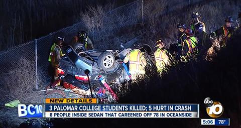 サンディエゴ大学生自動車事故