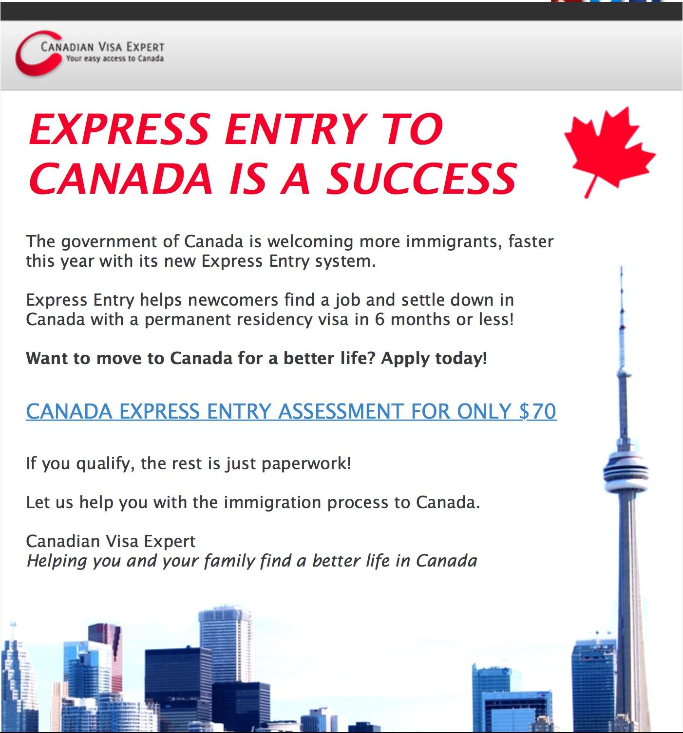 カナダ永住権詐欺にあいそうになった話